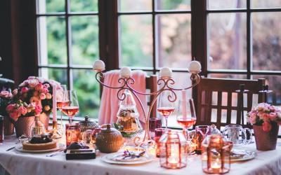 La cena navideña con vino